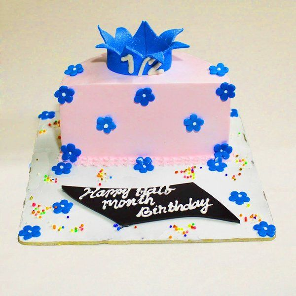 CakeZone Half Month Birthday Cake Gifts For Kids