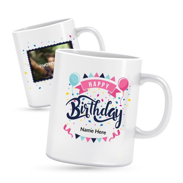 Privy Express Happy Birthday Photo Mug Thank You Gifts