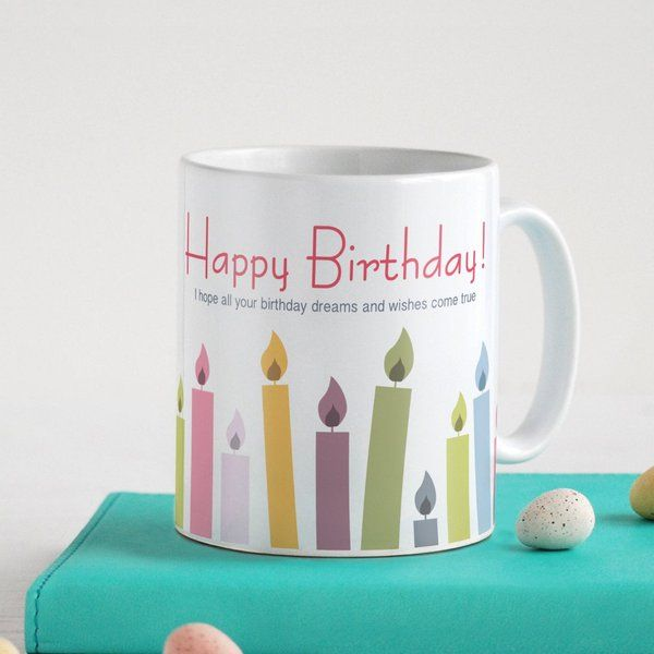 Indigifts Happy Birthday Printed Tea/Coffee Mug Birthday Gift Ideas For Female Best Friend