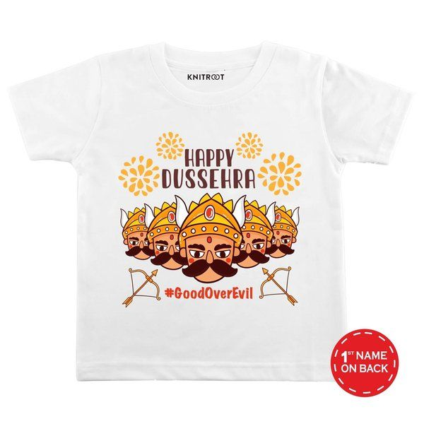 Knitroot Happy Dussehra Theme Baby Wear T-shirts Gifts For A 3 Year Old Boy