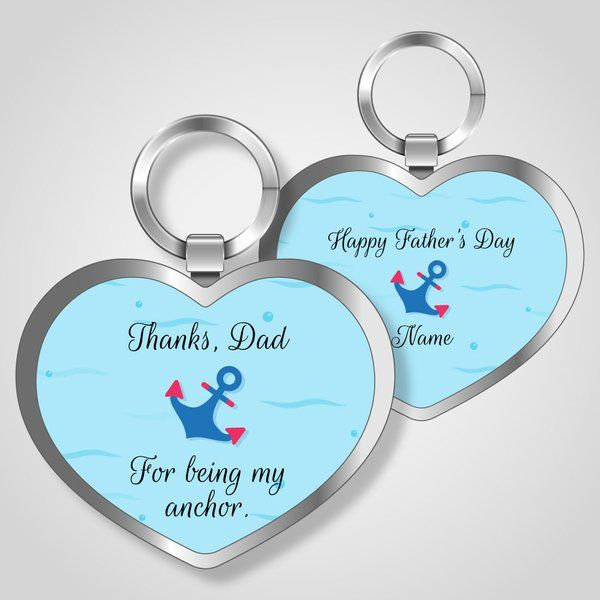 Privy Express Happy Father's Day Keychain Last Minute Fathers Day Gifts