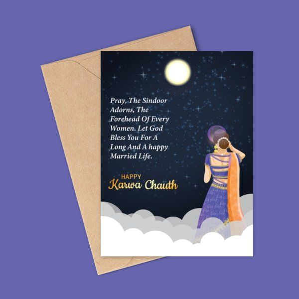 Privy Express Happy Married Life Wishes for Daughter in Law Karva Chauth Greeting Card Karva Chauth Greeting Cards