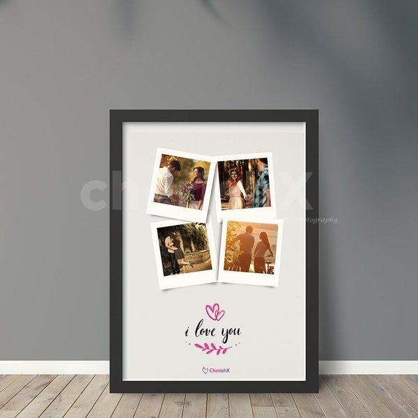 CherishX I Love You Polaroid Collage Frame Photo Frame For Boyfriend On Birthday