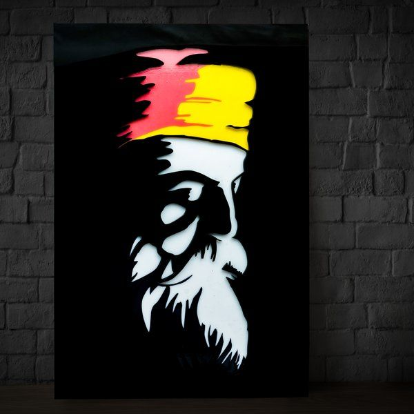 Zoci Voci Ik Onkar - Guru Nanak - Wall/Table Photo Lamp Gifts For Brothers From Sisters