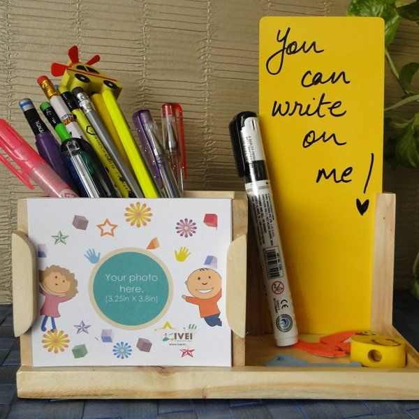 Ivei IVEI Desk Organizer With Yellow Board Stationery Kit For Girls