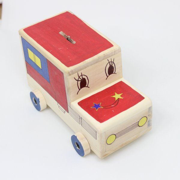 Ivei IVEI Hand Painted Truck Piggy Bank Gifts For Toddlers