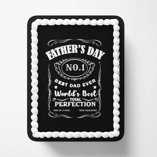Jack Daniels Fathers Day Special Personalized Photo Cakes