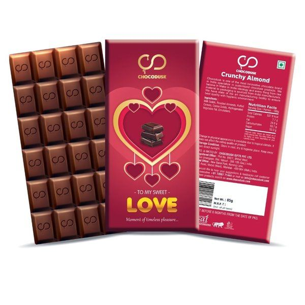 Chocodusk Love Red Chocolate Bar Birthday Gifts For Boyfriend