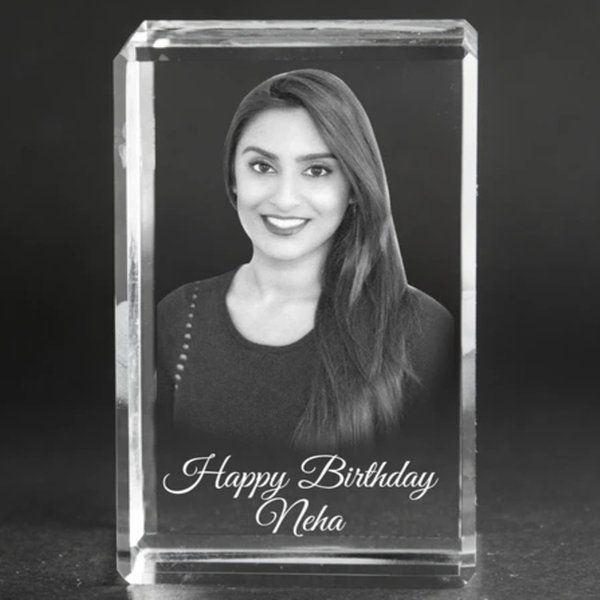 Privy Express Lovely Girlfriend Rectangle 3D Crystal Personalized Gifts For Birthday