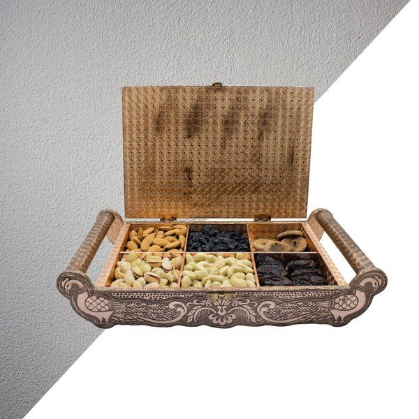 Apricot Luxury Dry Fruits Handcrafted Suitcase Gift Box Corporate Gift Ideas