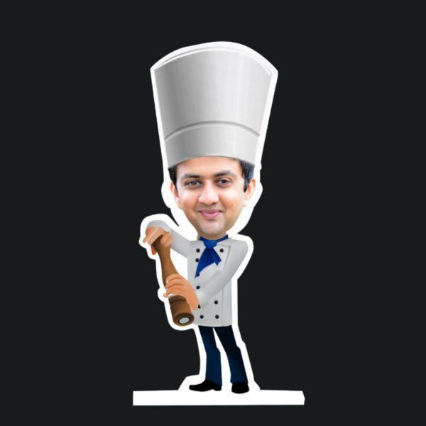 Zoci Voci Masterchef Caricature Standee Personalized Gifts For Friends