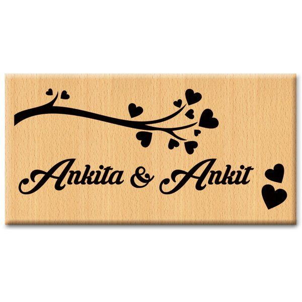 Incredible Gifts Modern Door Name Plate  Wooden Name Plates