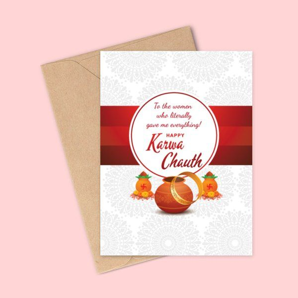 Privy Express Mother in Law (Bahu to Saas) Karva Chauth Special Wishes Greeting Card Karva Chauth Greeting Cards