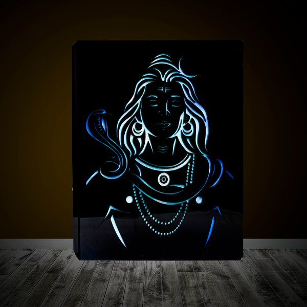 Zoci Voci Neelkanth - Lord Shiva - Wall/Table Photo Lamp Gifts For Boys Age 18