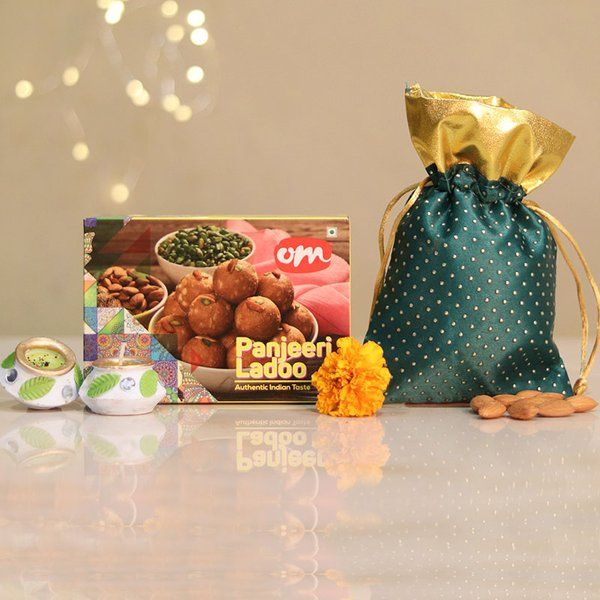 FlowerAura Panjeeri N Almond Combo 60th Birthday Gifts For Dad