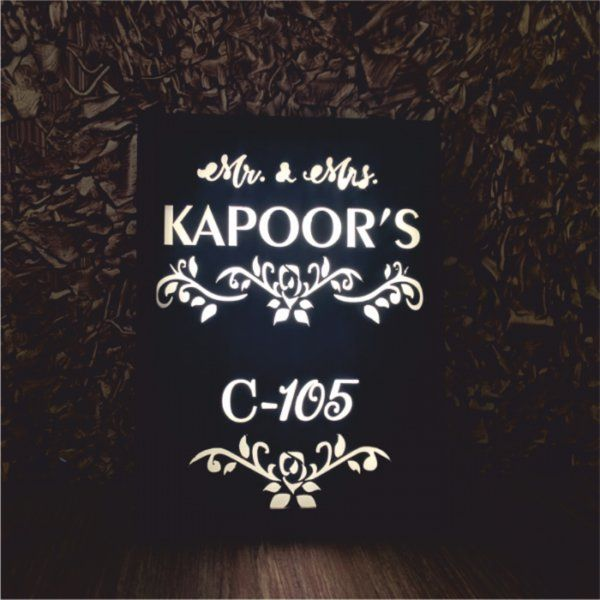 Zoci Voci Pehchan - Personalized Name Plate With Light Personalized Gifts For Family
