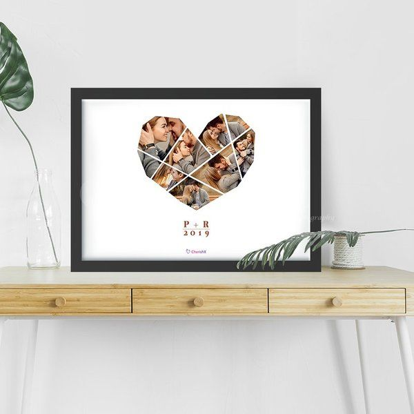 Customized Gift for Wife Birthday Heart Shape Photo Frame