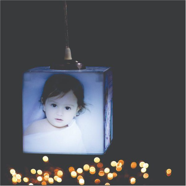 Zoci Voci Personalized Cube Hanging Photo Lamp Gifts For 1 Year Baby Girl