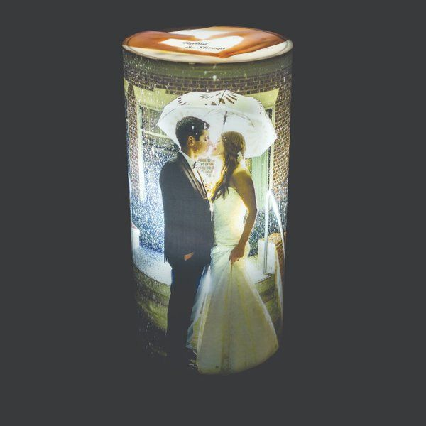 Personalized Cylindrical Photo Lamps & Nightlights
