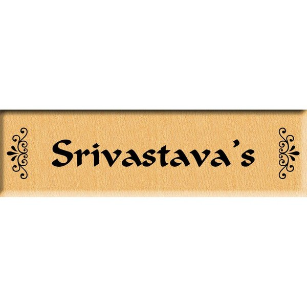 Incredible Gifts Personalized Family Name Plate or Door Sign Wooden Name Plates
