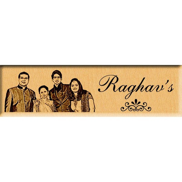 Incredible Gifts Personalized Photo Name Plate or Door Sign  Personalized Gifts For Family