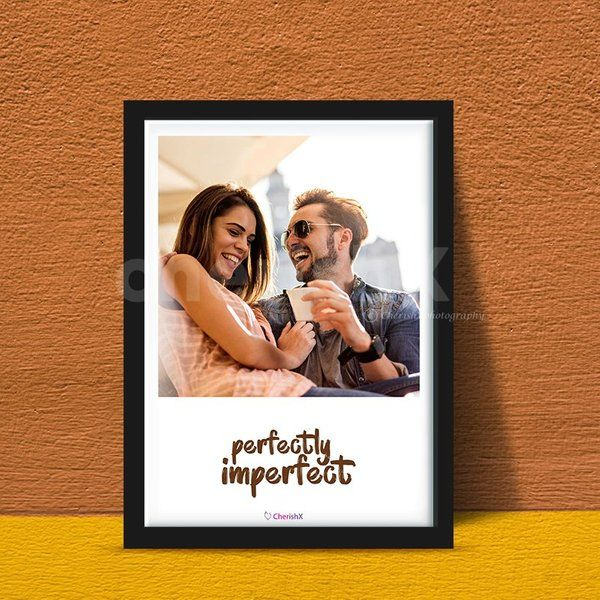 Photo Frame With Custom Text - a Personalized Gift for Wife