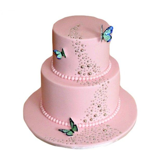 CakeZone Pink Lavender Butterflies Cake Personalized Gifts For Kids