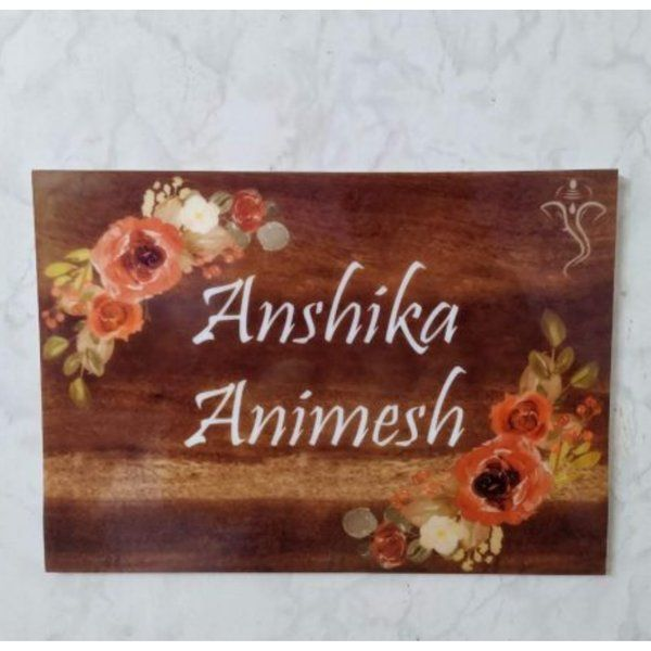 Zoci Voci Printed Acrylic Nameplate Memorable Gift For Husband