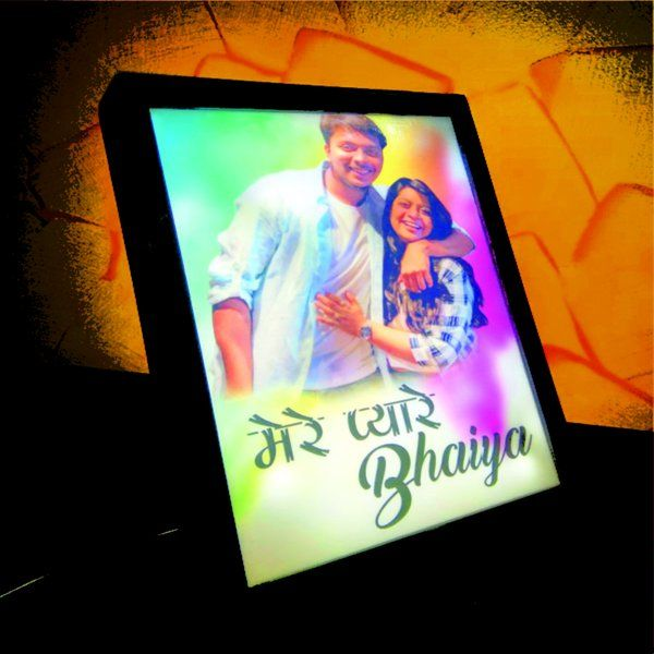 Zoci Voci Pyare Bhaiya Photo Lamp Personalized Anniversary Gifts