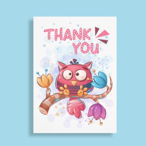 Privy Express Quirky Thank You Greeting Card Womens Day Gift