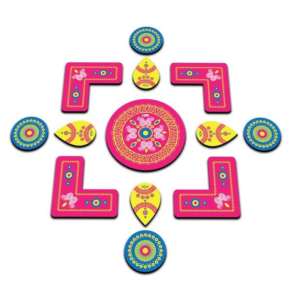 Indigifts Rearrangable And Reusable Eco Friendly Rangoli Diwali Gifts For Friends