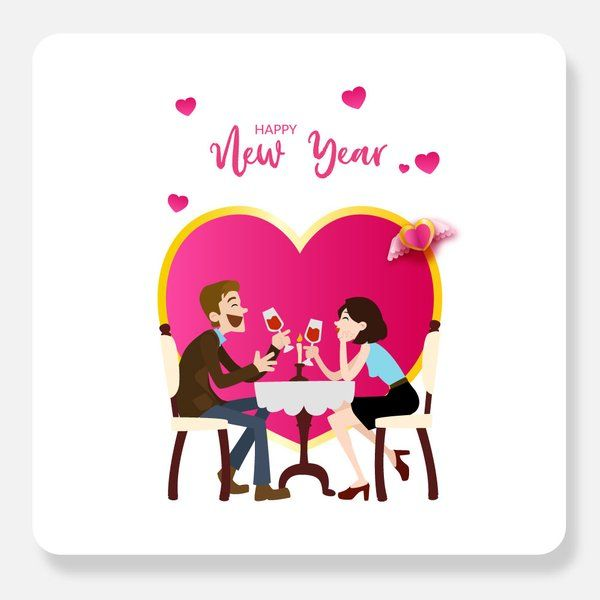 Privy Express Romantic New Year Greeting Card New Year Greeting Cards