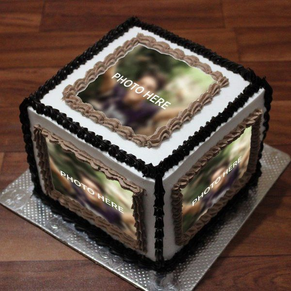 CakeZone Special Cube Cake Personalized Photo Cakes