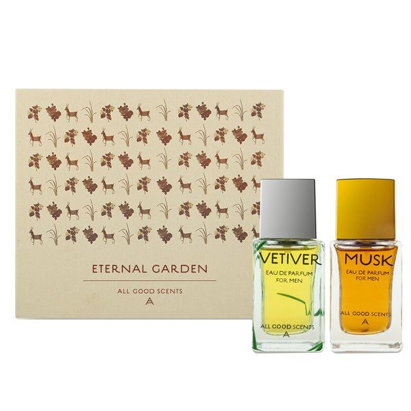 All Good Scents The Eternal Garden Playful Edition (Musk & Vetiver)  Perfume Gift Sets