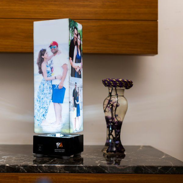 Tower Rotating Personalized Revolving Photo Lamp