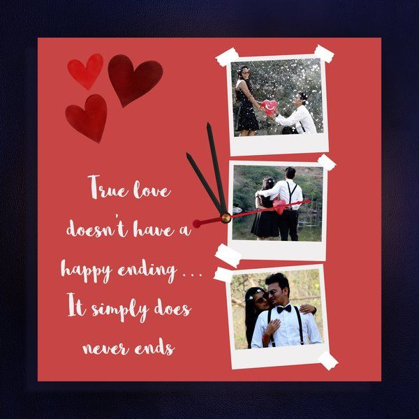 Zoci Voci True Love Personalized Wall Clock Valentines Day Décor