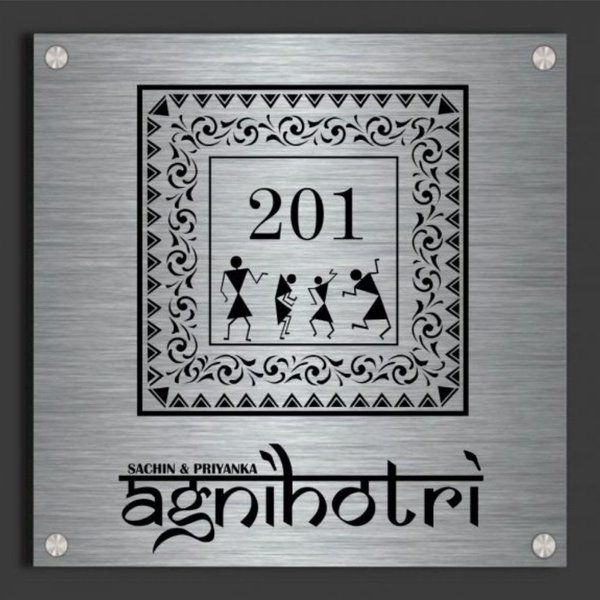Zoci Voci Warli Art Name Plate Happy 60th Birthday Gifts