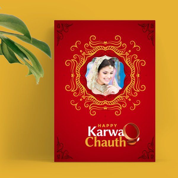 Privy Express Wife Photo Personalized Happy Karwa Chauth Wishes Greeting Card Karva Chauth Greeting Cards
