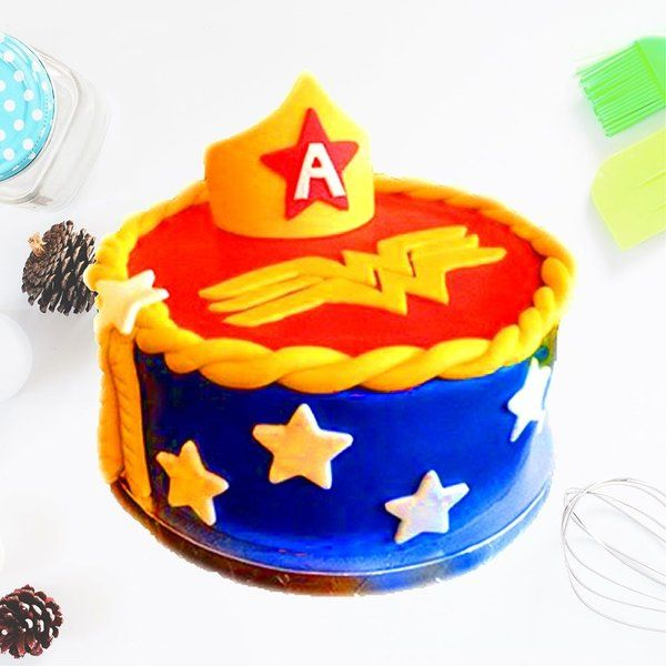 CakeZone Wonder Woman Crown Cake Personalized Gifts For Kids