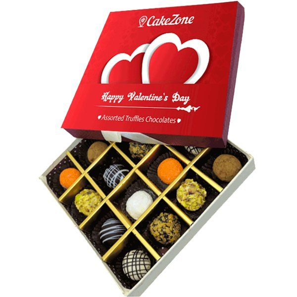 CakeZone 16 Assorted Truffles Chocolates Valentine's Day Gift Pack Birthday Gift Ideas For Friends