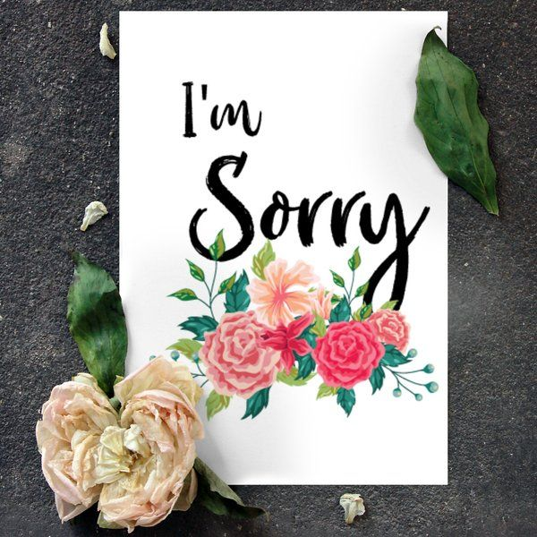 Sorry Gifts for GF Apologies Card