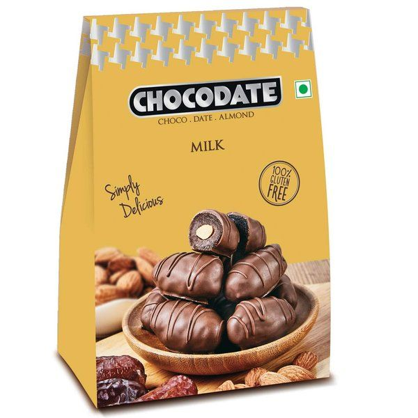 Chocodate Arabian Date And Roasted Almond Milk  Chocolate Box 100g Congratulation Gifts