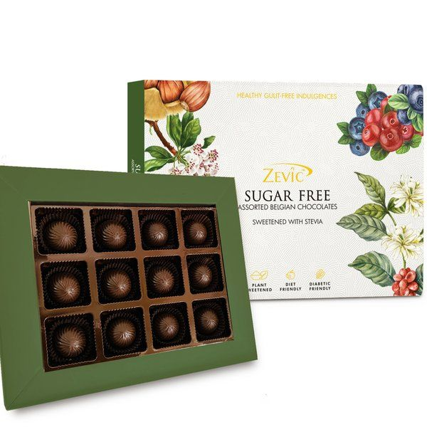 Zevic Assorted Sugar Free Pralines Gift Pack 120gm Gifts For Grandparents