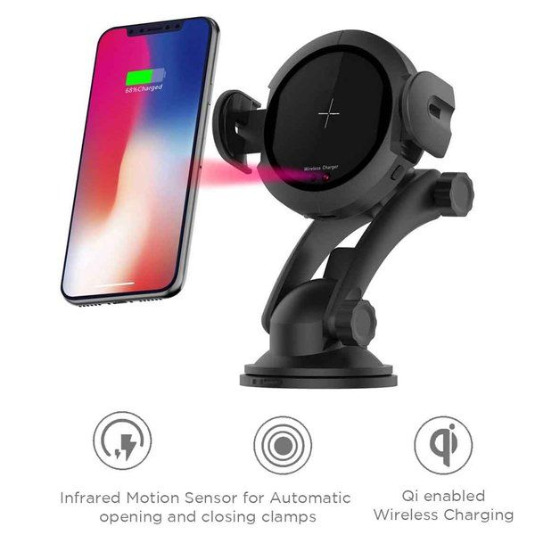 Macmerise Autobot Pro - Automatic Car mount Wireless Charger Gadget Gift For Husband