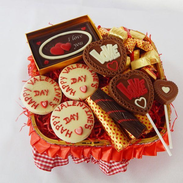 Jus'Trufs Chocolatiers Be Mine Chocolate Valentine Hamper Romantic Gifts