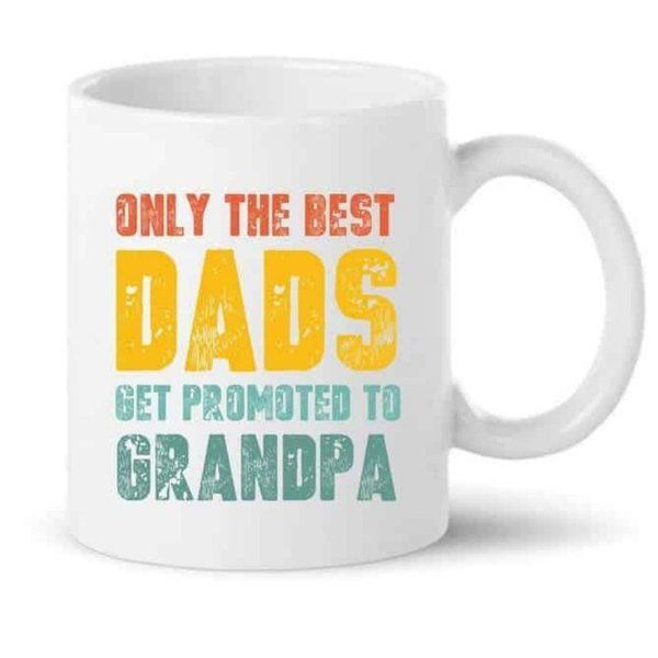 Knitroot Best Dads Get Promoted To Grandpa Mug Personalized Gifts For Grandpa