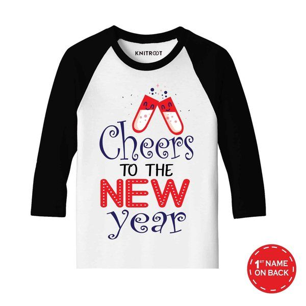 Knitroot Cheers to the New Year 2021 Baby Wear T-Shirts Birthday Gift Ideas For Friends