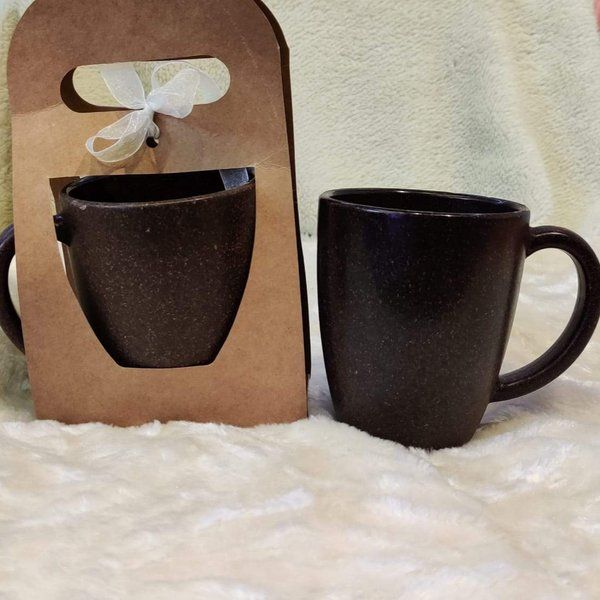 Stallion Barware Coffee Husk Coffee Mug - Set of 2 (300 ml) Harvest Cute Gifts For Boyfriend