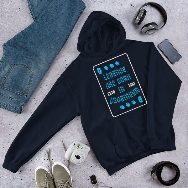 Privy Express Creative Playing Cards December Birthday Quote Hoodie (Unisex) Creative Gifts For Boyfriend