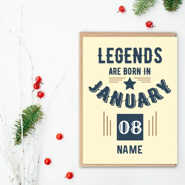 Privy Express Customized Legend's Birthday Month Greeting Card with Date and Name Creative Gifts